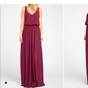 Kendall Maxi Dress Merlot Chiffon Bridesmaid